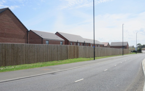 No thought has been given to how safe this residential street might feel for pedestrians, although the recent Housing Design Audit in England showed we are getting better at considering crime and safety issues in new housing areas