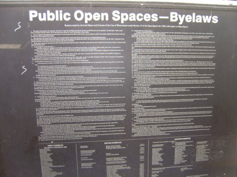 Westminster public space bylaws
